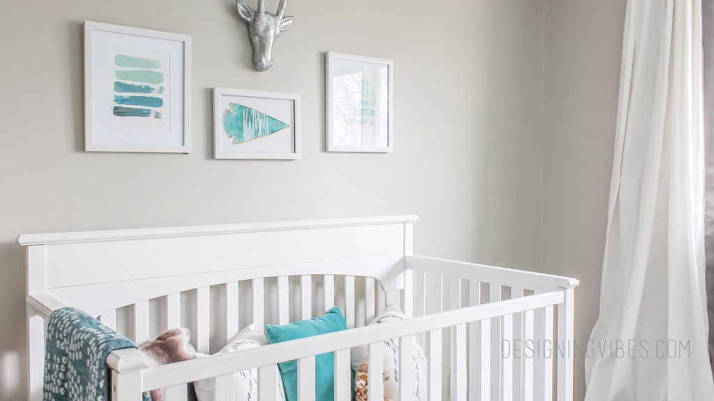 rustic tribal nursery for boy