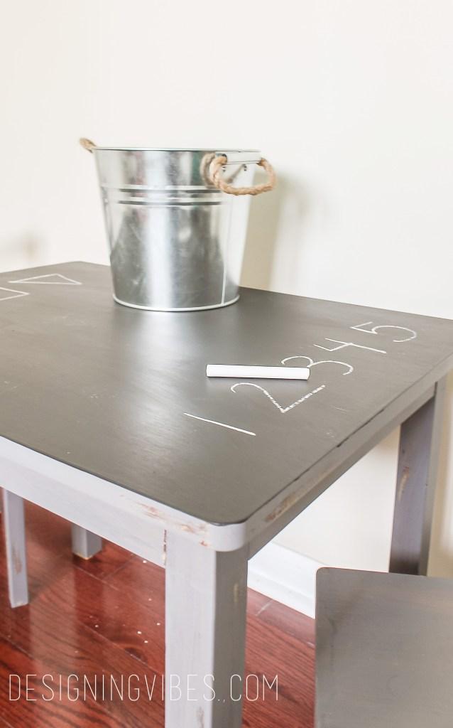 diy toddler desk with chalkboard paint