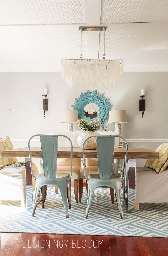 turquoise spring decor
