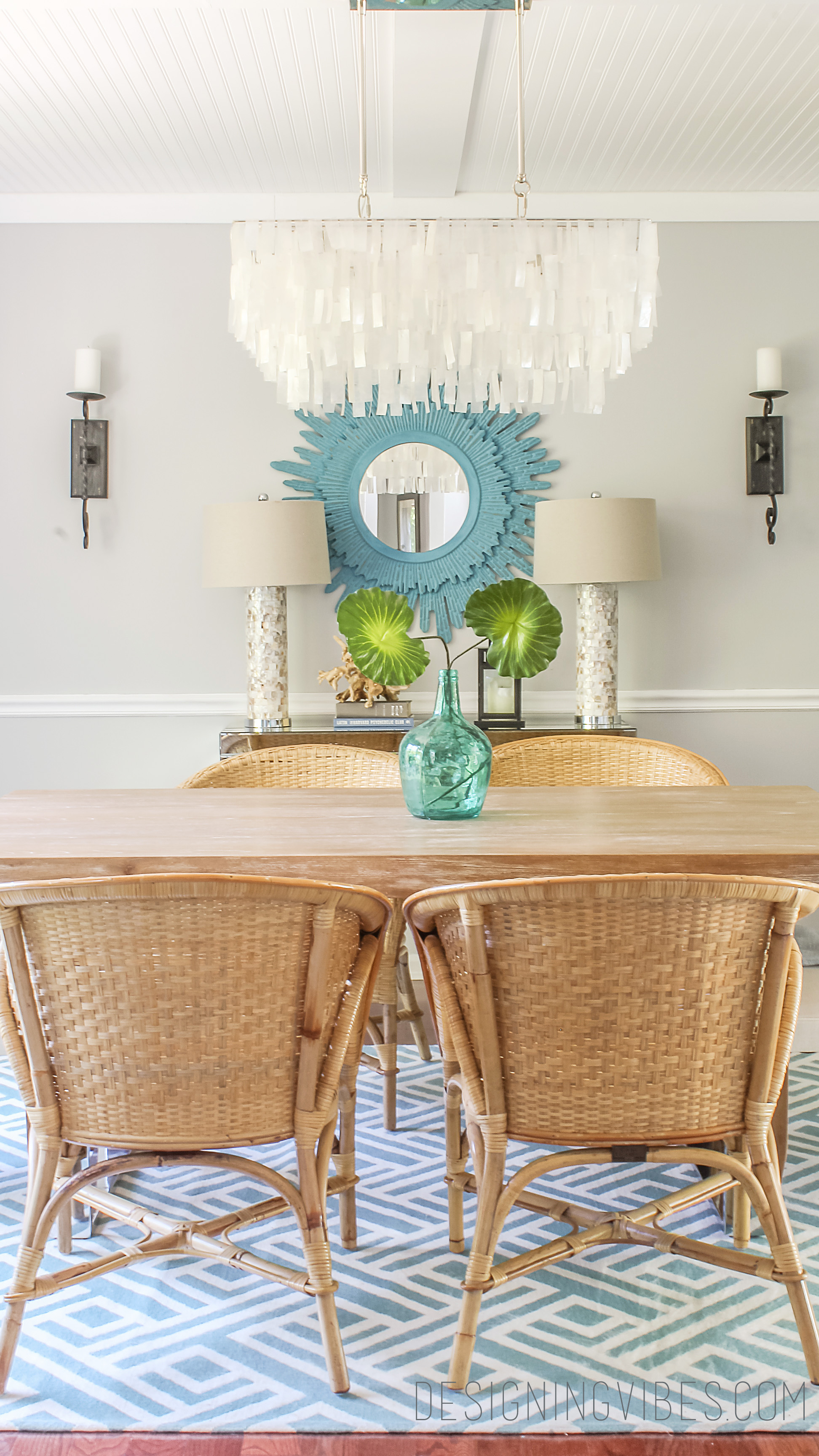 Modern Rattan Chairs Dining Room