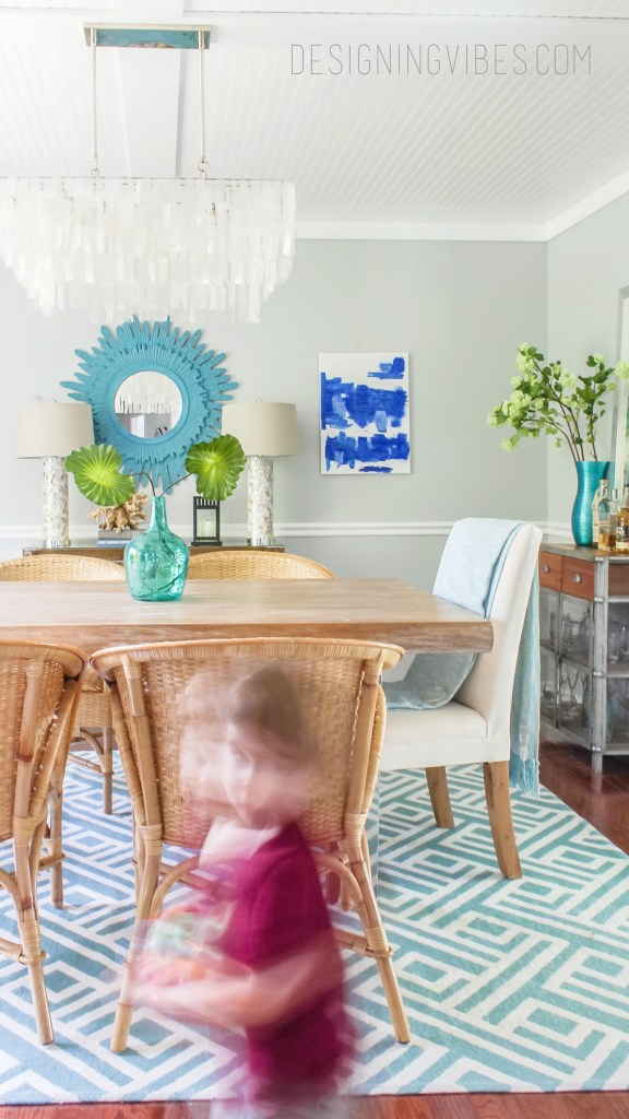 modern coastal dining room