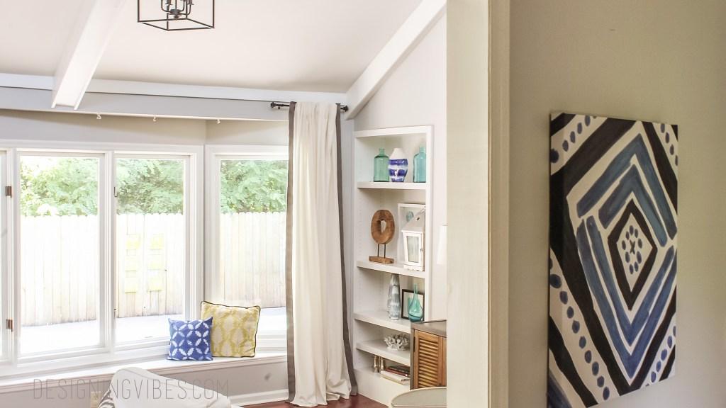 indigo and grey living room