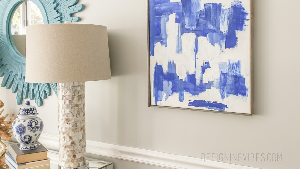 blue abstract art easy tutorial
