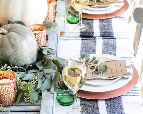 modern farmhouse thanksgiving table idea