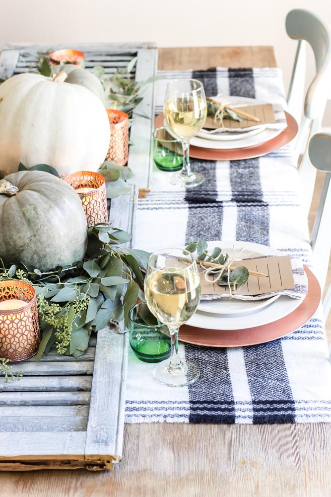 modern farmhouse thanksgiving table idea