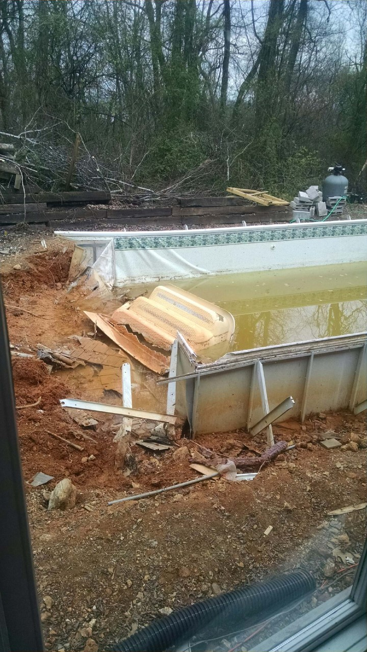 How to make an above ground pool look inground pool deck - Nice above ground pools ...