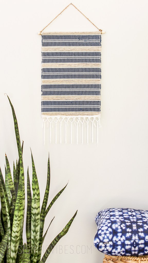 diy no sew woven wall hanging under $10