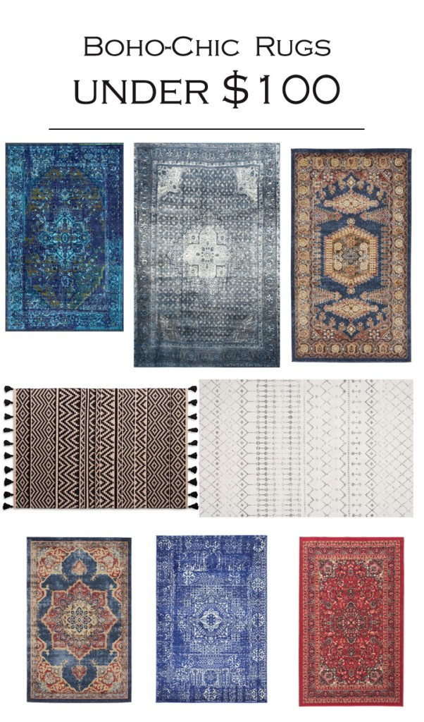 affordable boho chic rugs