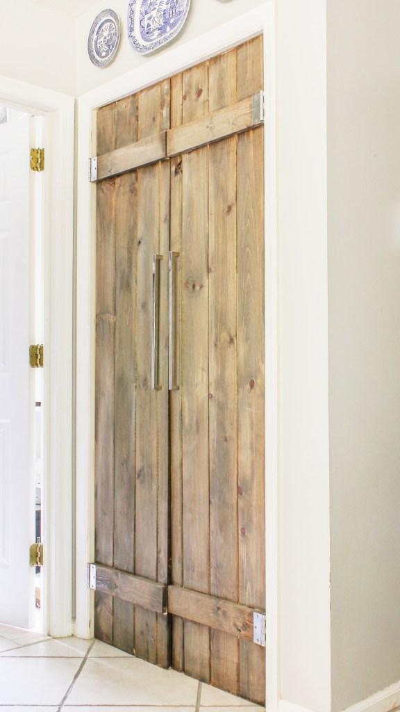 diy reclaimed wood pantry door