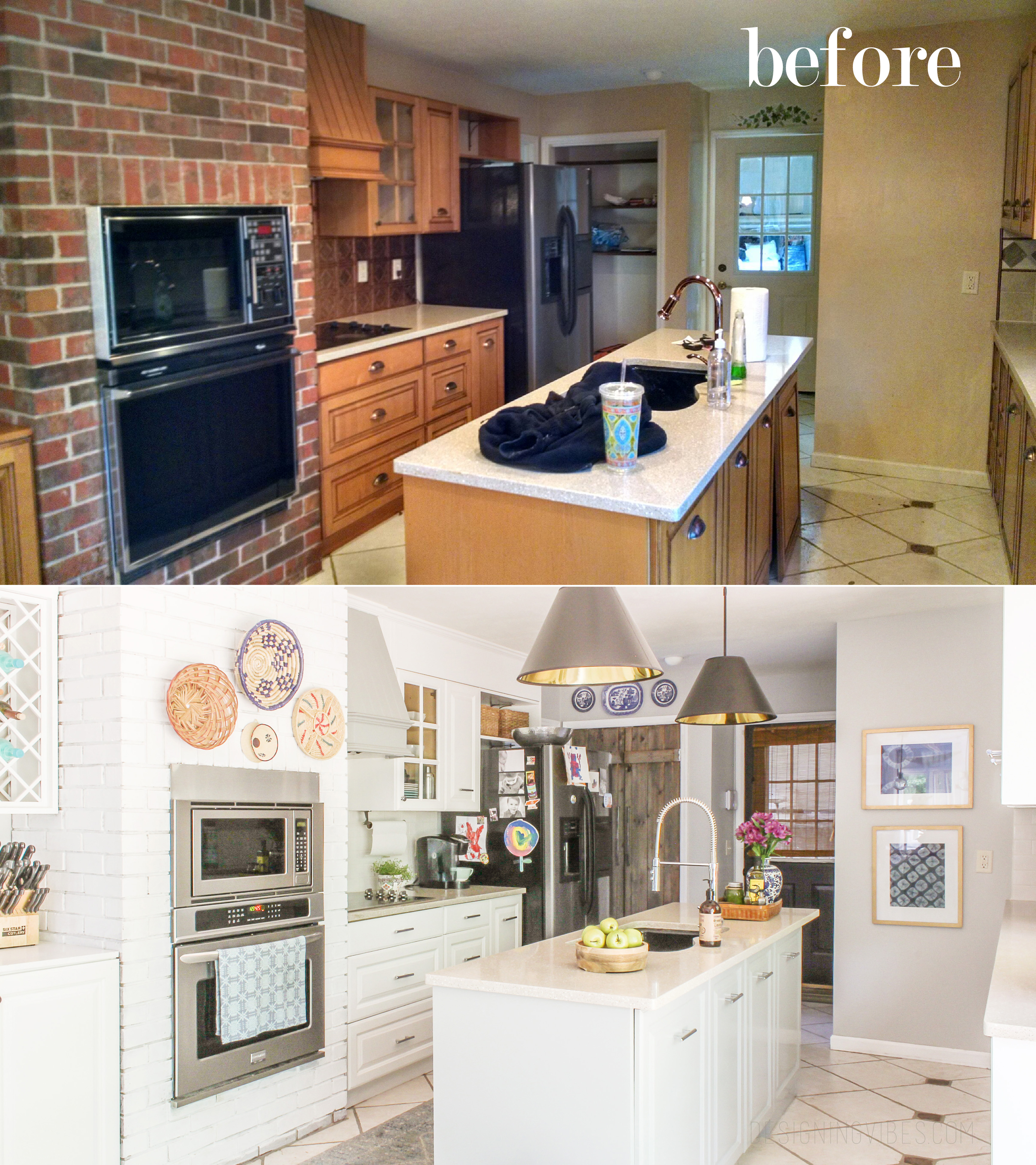 How I Renovated My 1980 S Kitchen On A Crazy Low Budget Diy Kitchen Makeover