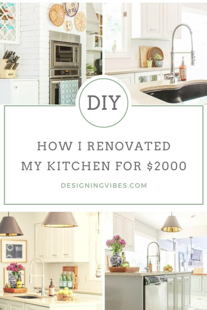 diy kitchen renovation for under $2,000
