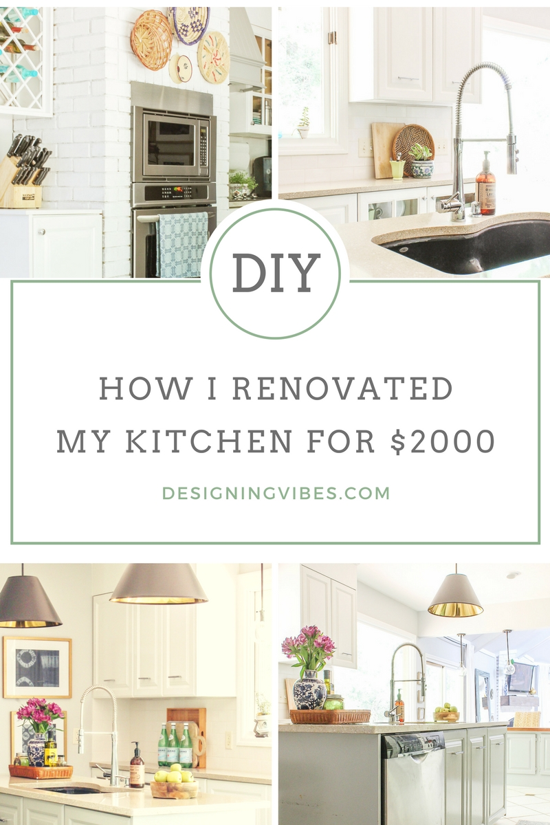 How I Renovated My 1980\'s Kitchen on a Crazy Low Budget- DIY Kitchen ...