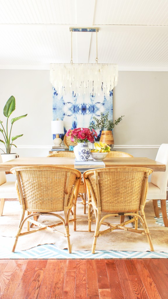 boho chic dining room