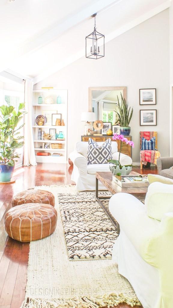 boho glam living room