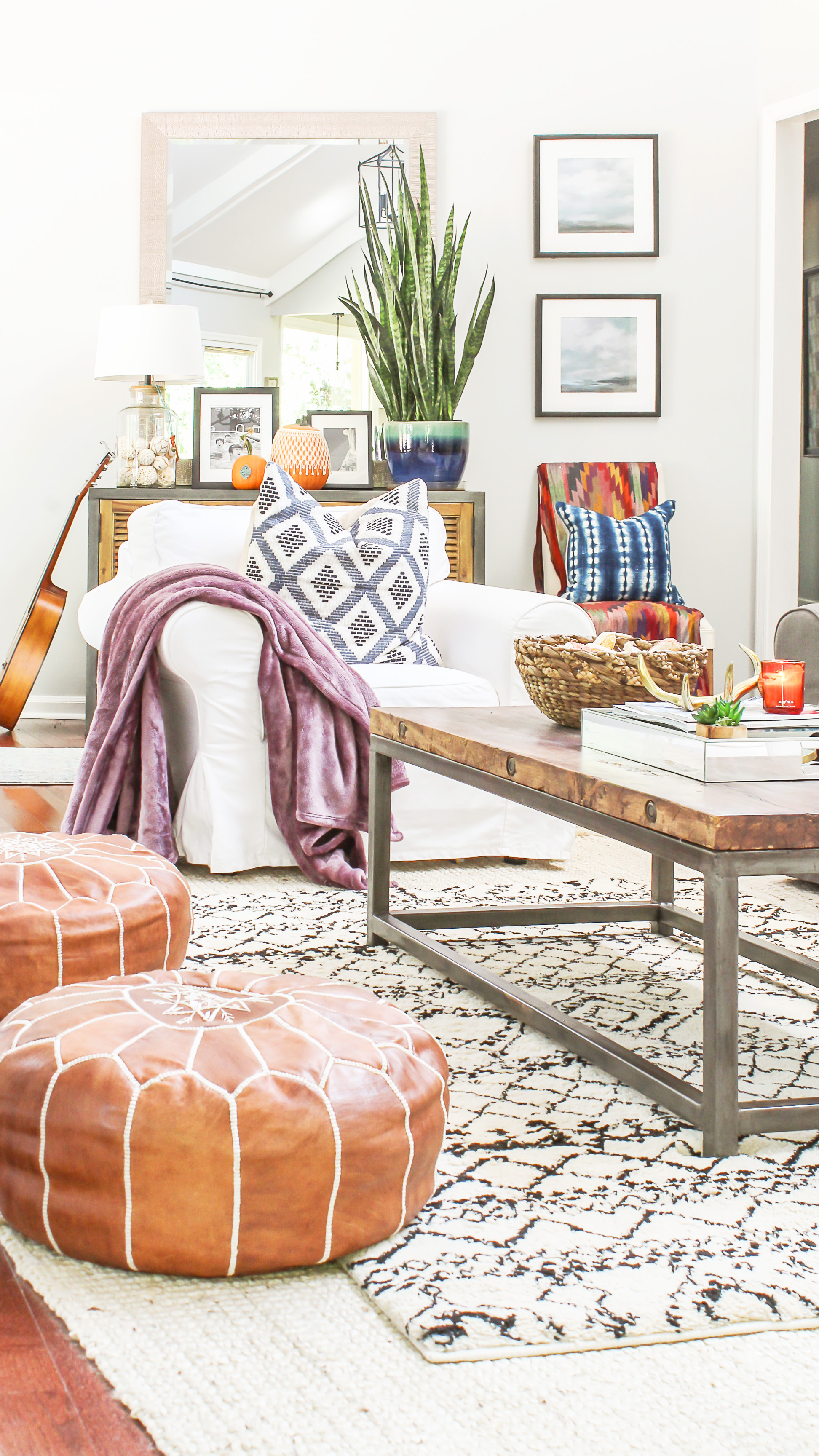 boho chic fall home tour and decor tips fall decor inspiration