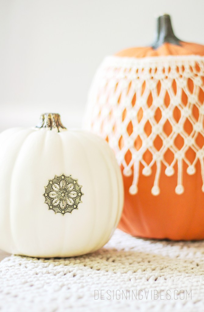 diy boho glam pumpkin