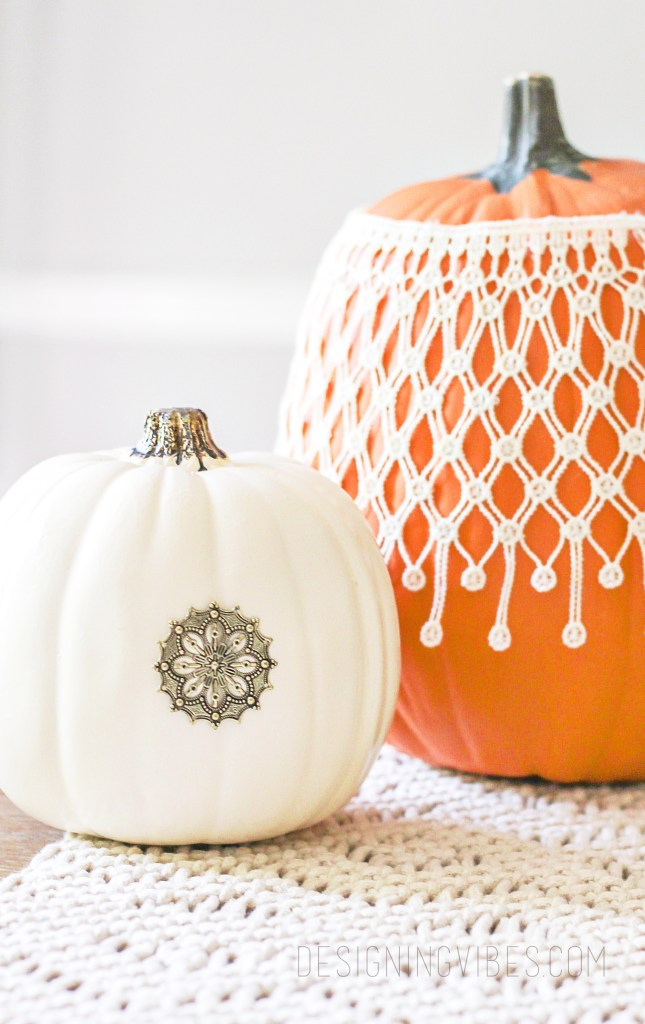 diy boho glam pumpkins