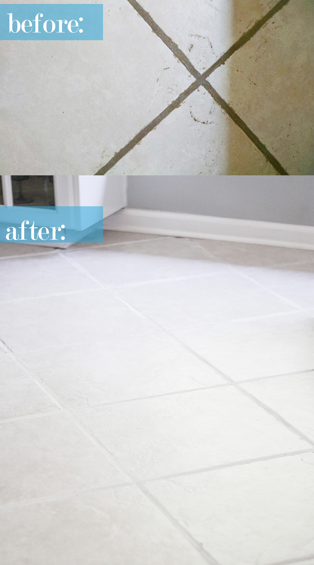 Fabulous The Easiest Way To Clean Filthy Neglected Tile Flooring Interior Design Ideas Tzicisoteloinfo