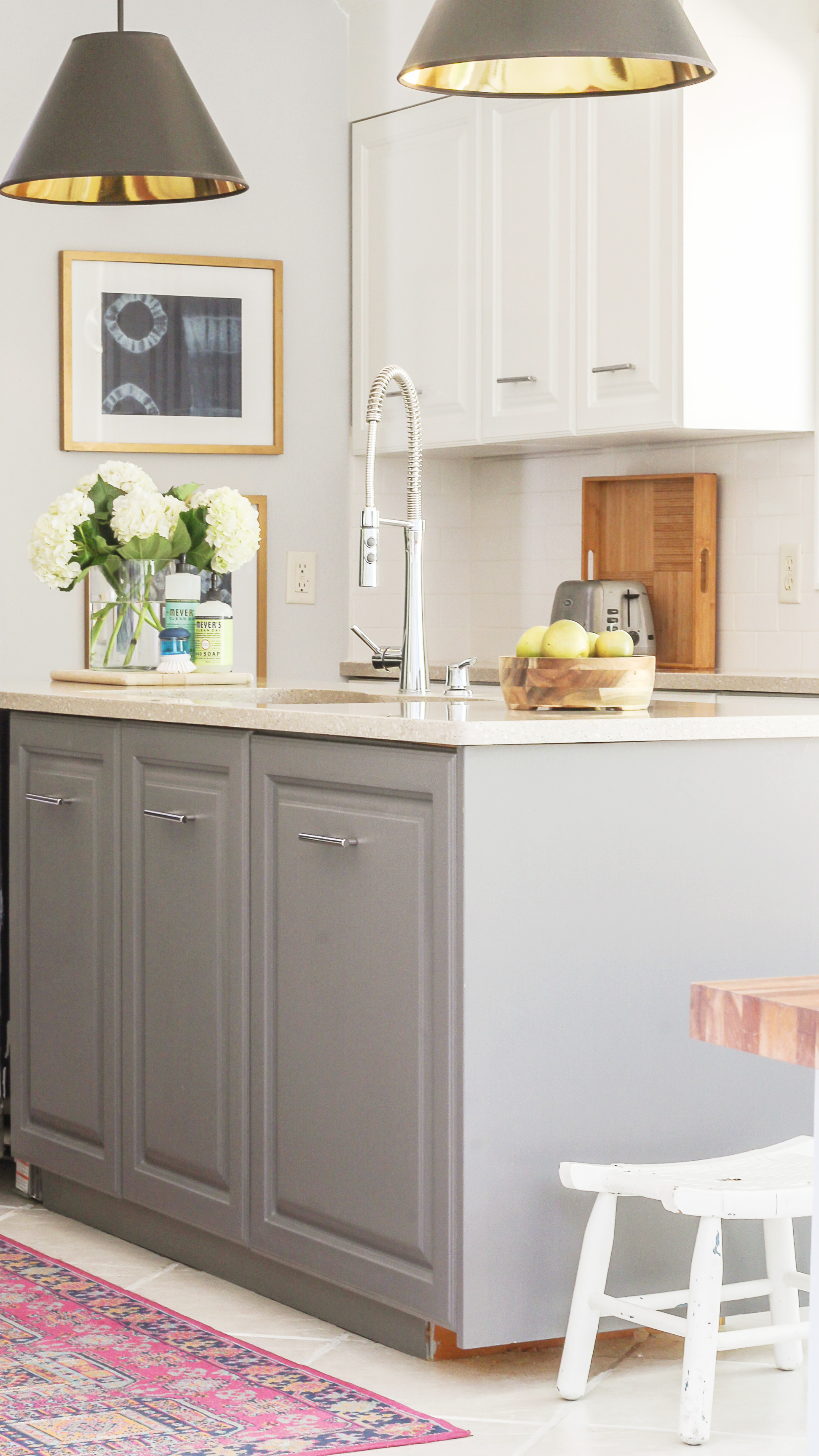 Fastest Way To Paint Kitchen Cabinets The Ultimate Hack,Blue And White Porcelain Tile