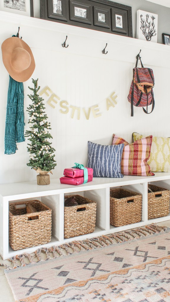 modern boho christmas decor
