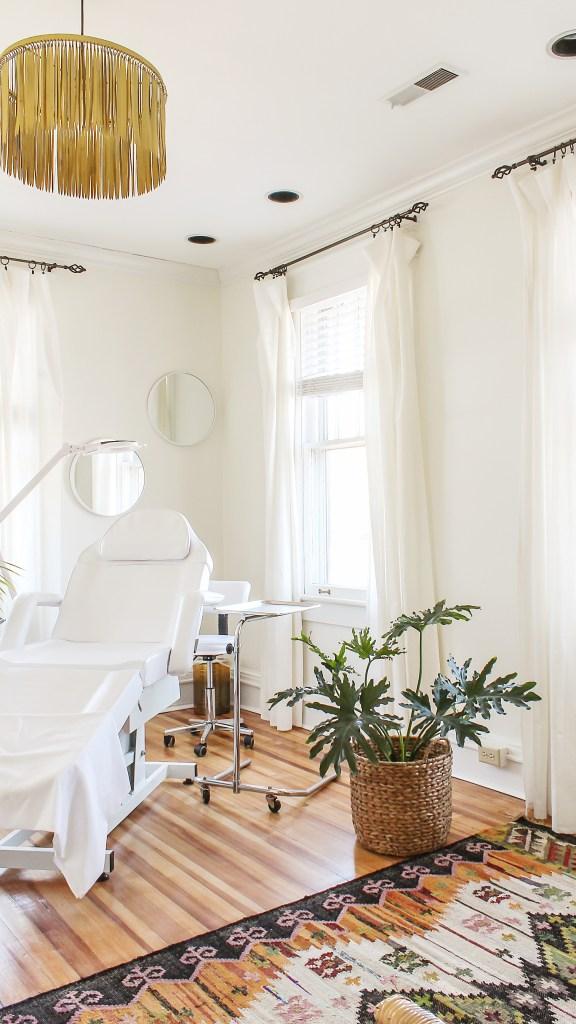 Esthetician Treatment Room Decor Client Reveal