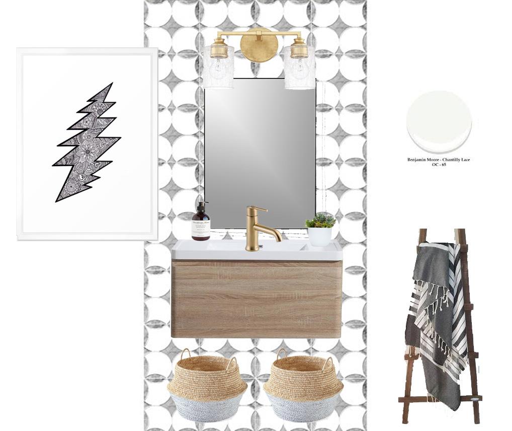 california casual powder room plans