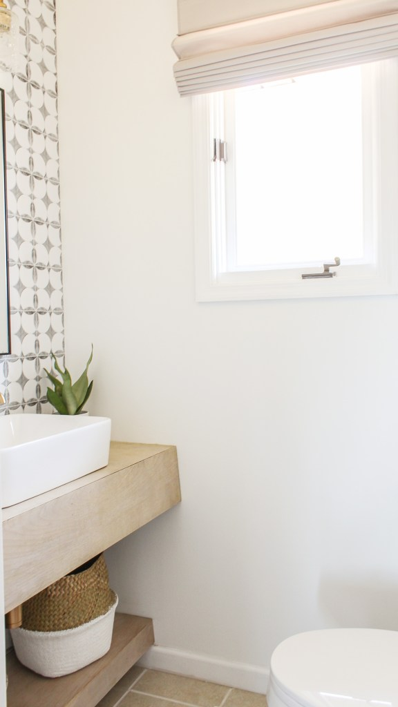 diy powder room reveal