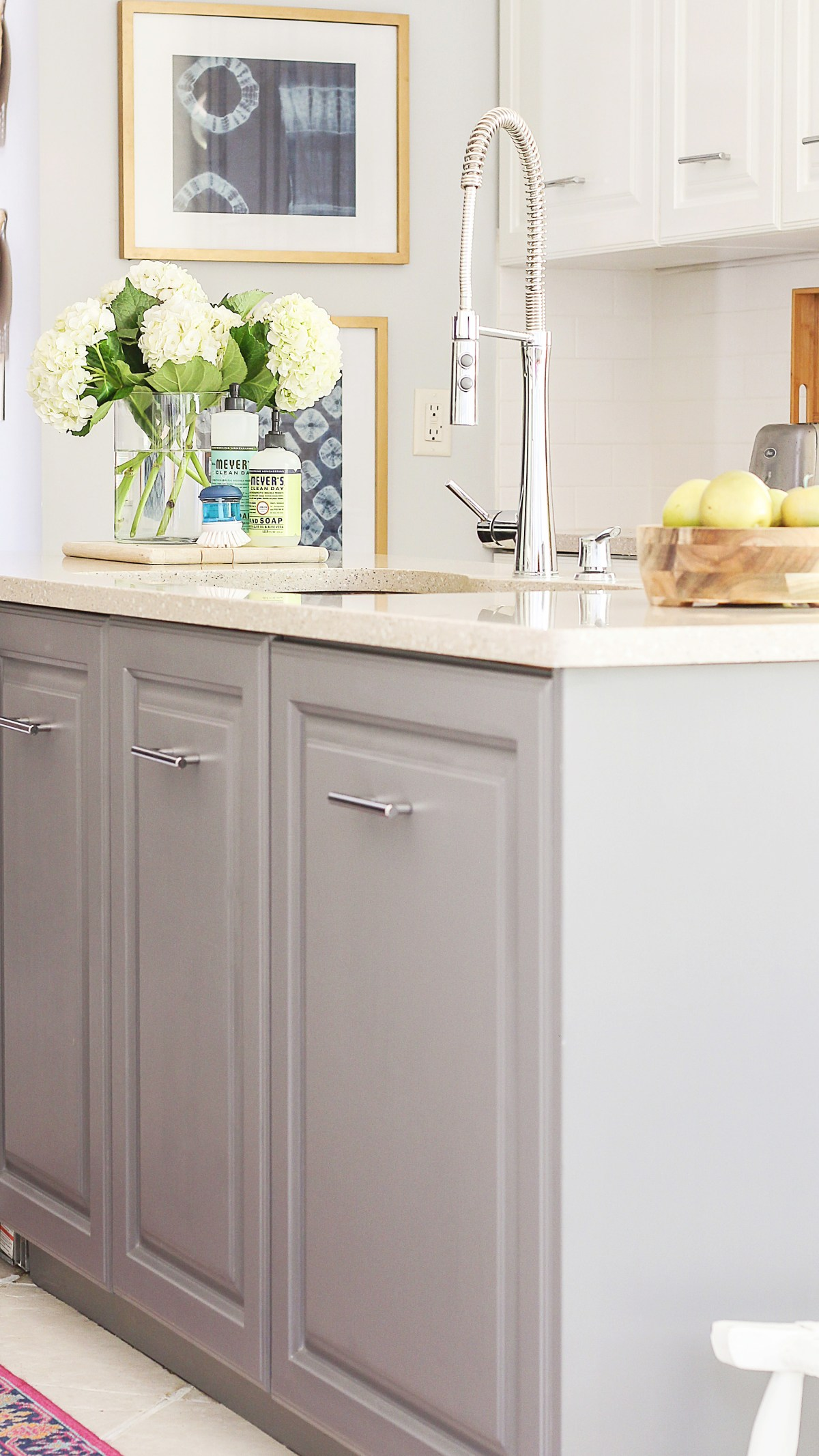 painting your kitchen cabinets white a review of my milk paint cabinets 6 month follow up 24565