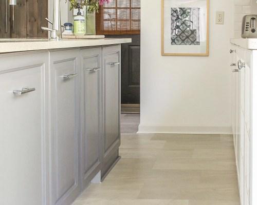 lvt flooring installation in kitchen