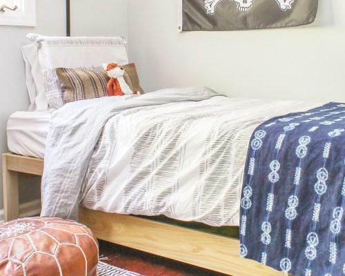 boy's modern boho room reveal
