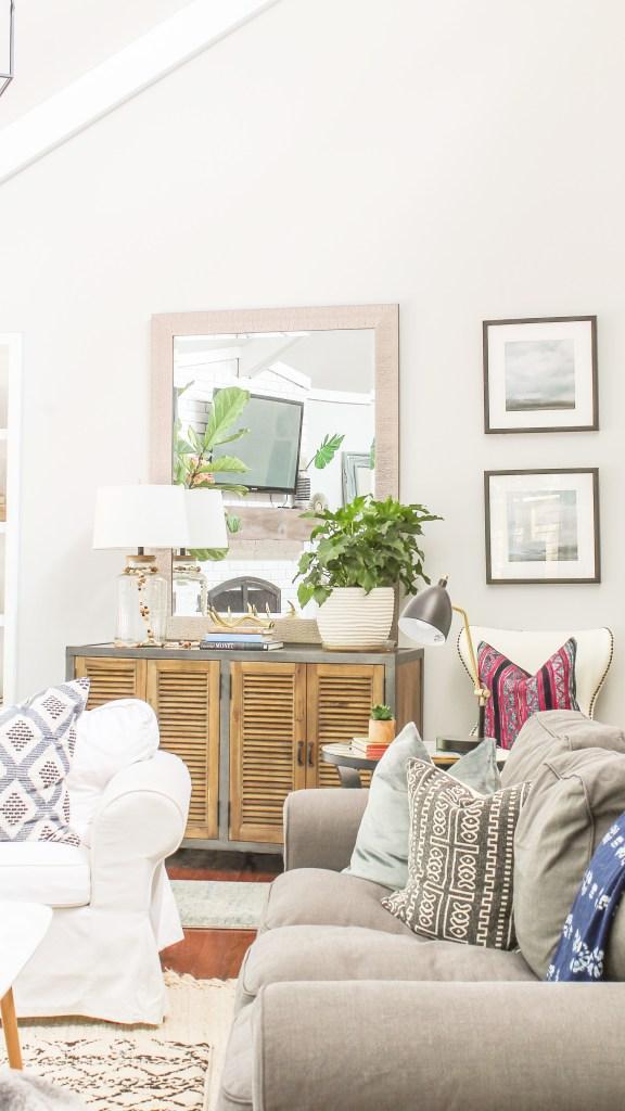 modern farmhouse living room transformation