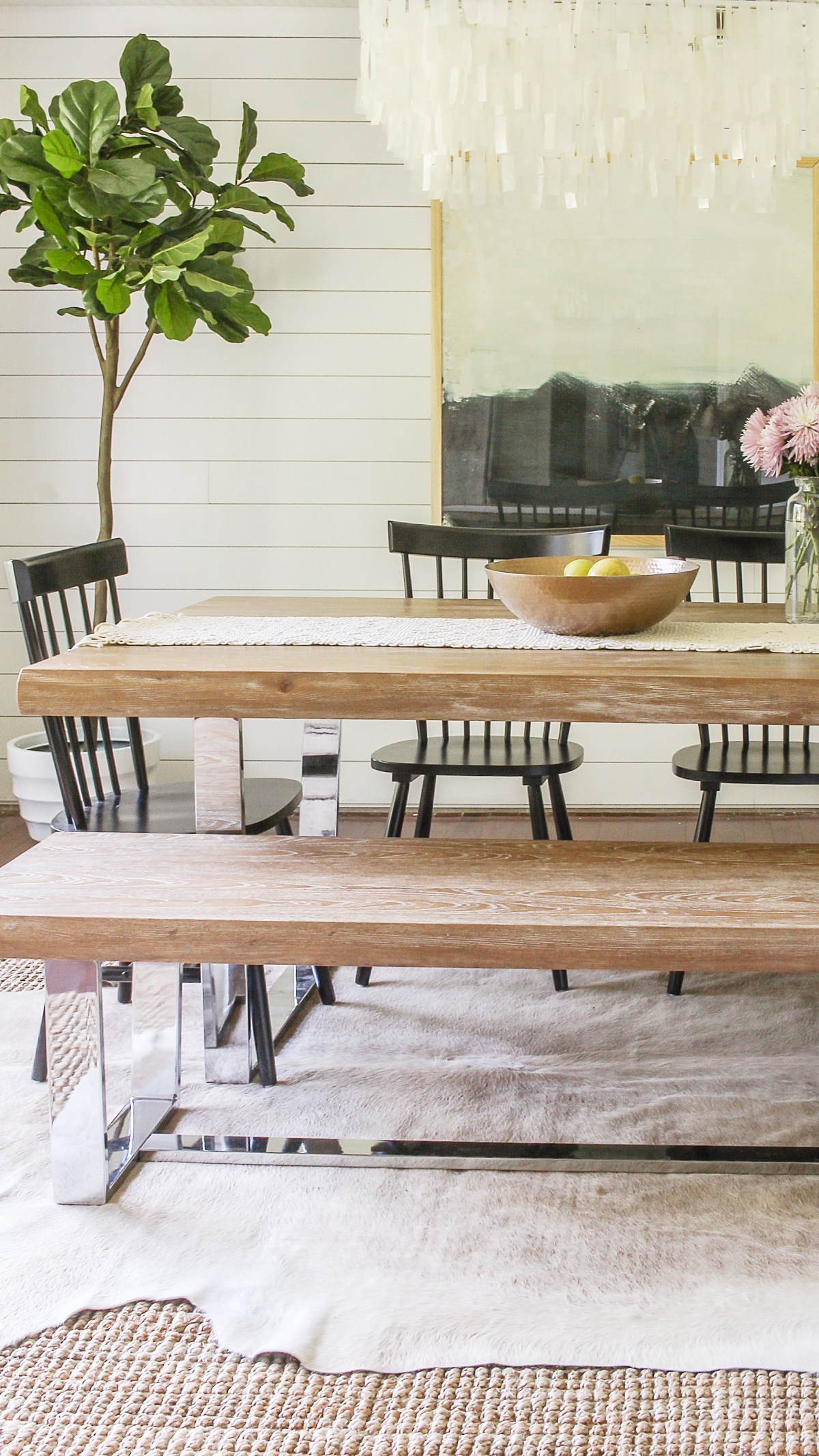Modern Farmhouse Dining Room Reveal- Interior Design Ideas on a Budget