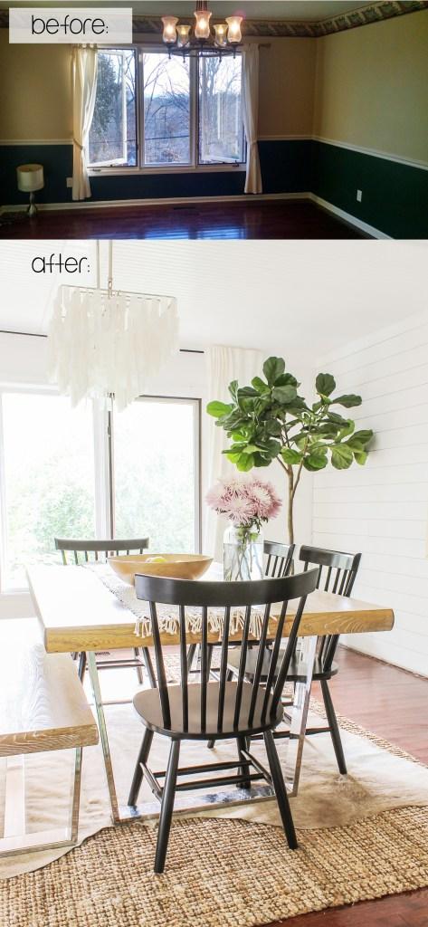 Modern Farmhouse Dining Room Reveal Interior Design Ideas