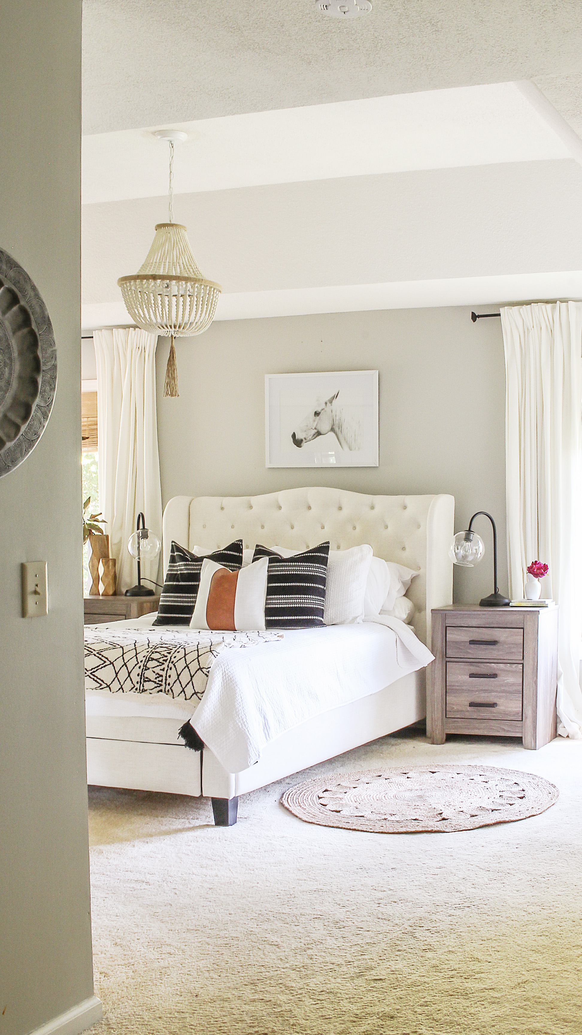 Modern Farmhouse Bedroom Refresh on a Budget