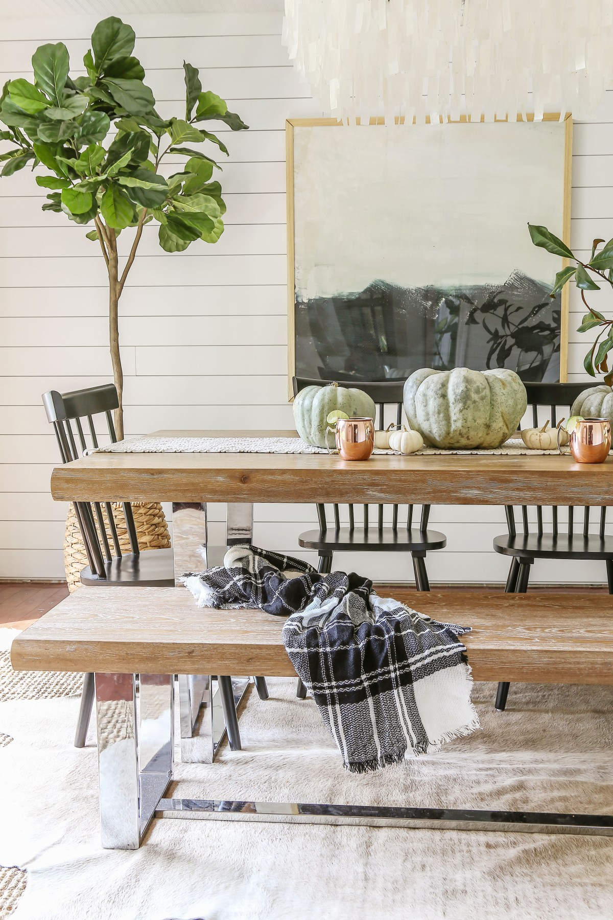 Affordable Modern Farmhouse Fall Decorating - Designing ...