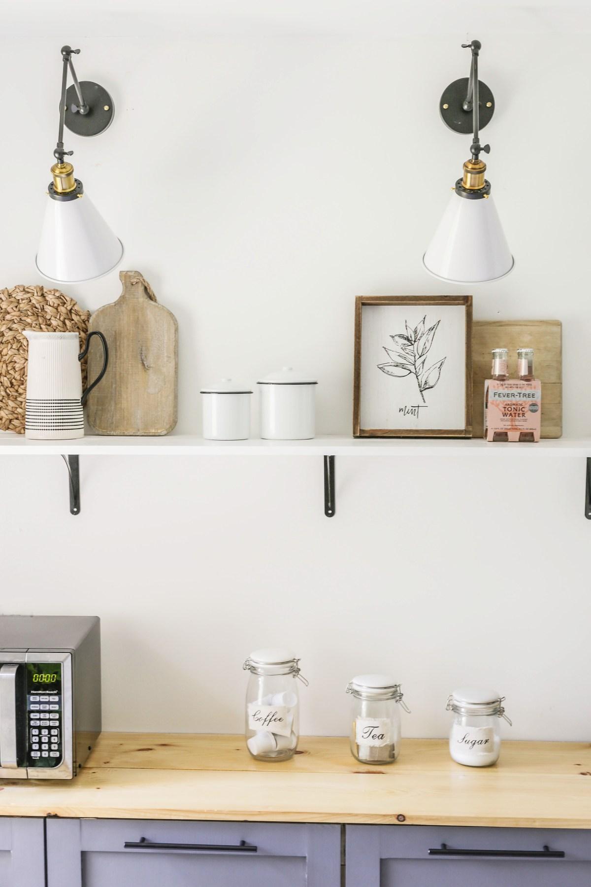 Diy Open Shelving On The Cheap Farmhouse Kitchen Shelves