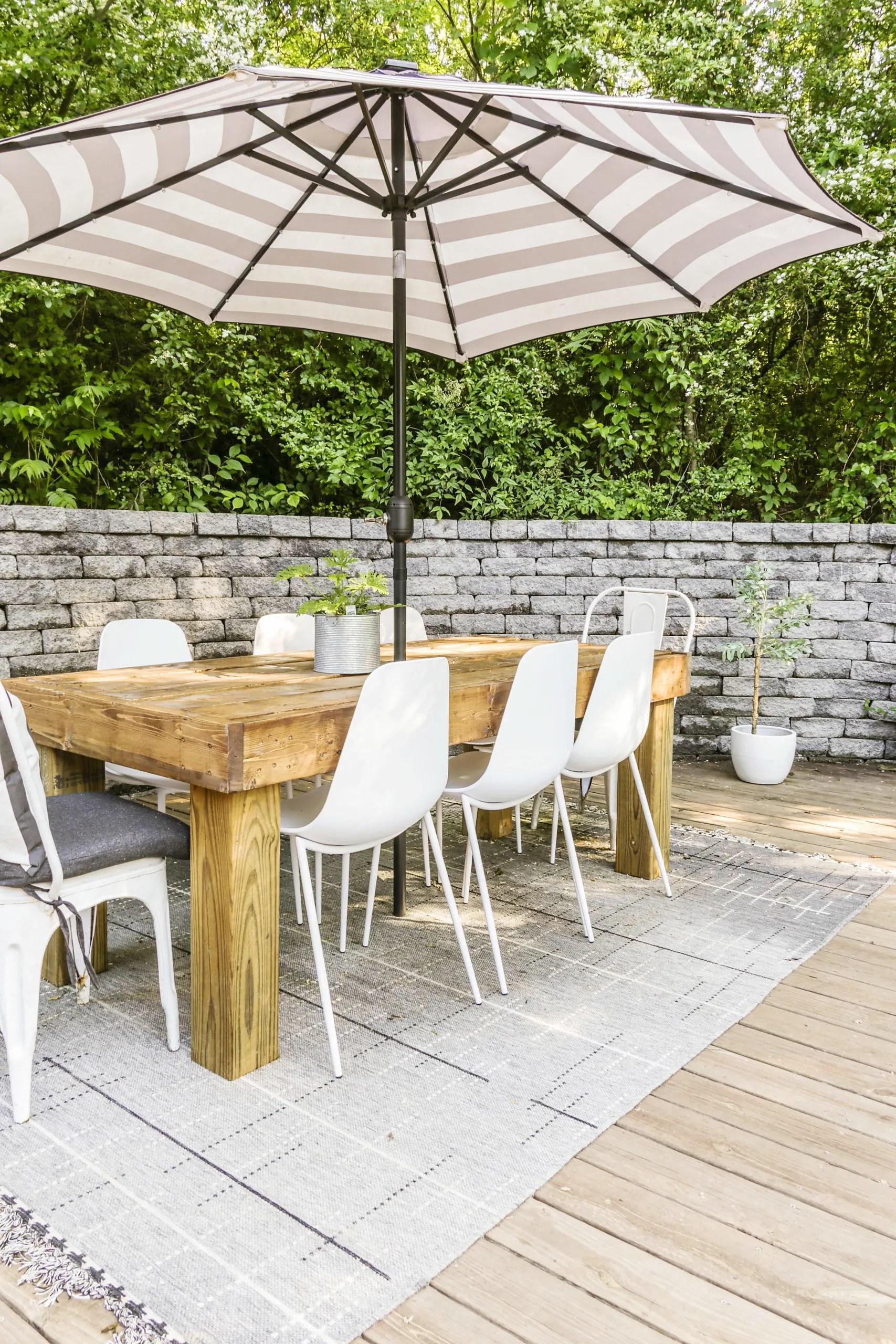 diy modern farmhouse outdoor dining