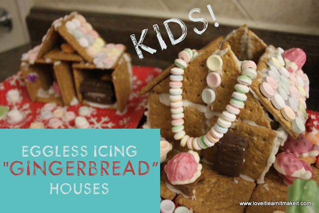 Eggless Icing Gingerbread Houses