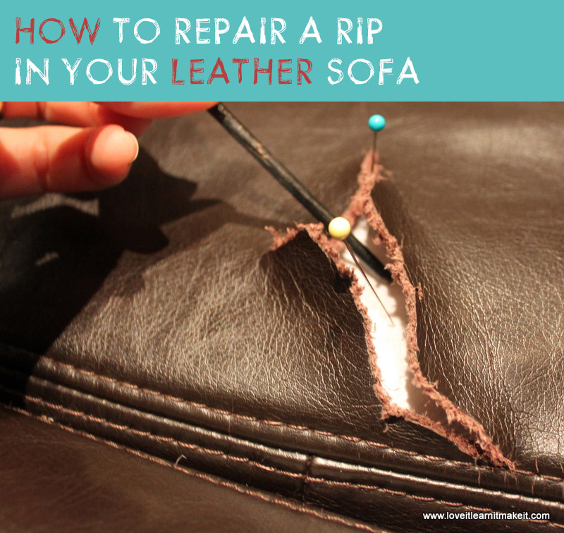Fix a Rip in Your Leather Sofa