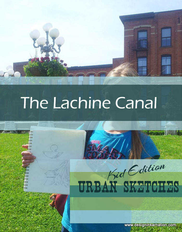 Urban Sketching with Kids: Lachine Canal