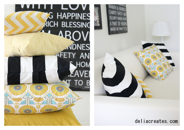 envelope pillow case, easy sewing