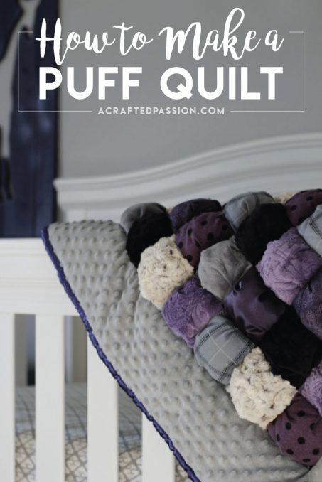 make a puff quilt, step by step sewing