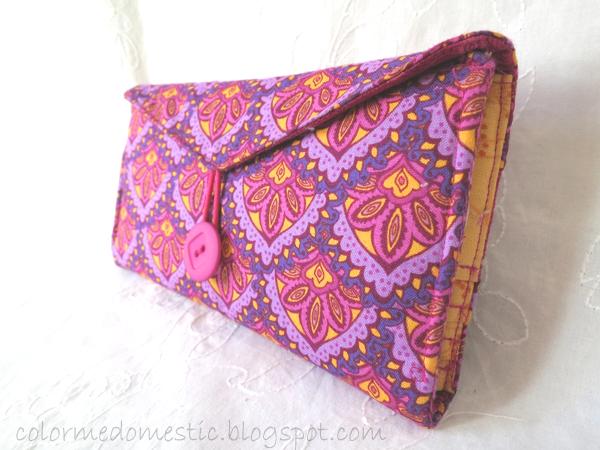 diy wallet, sewing