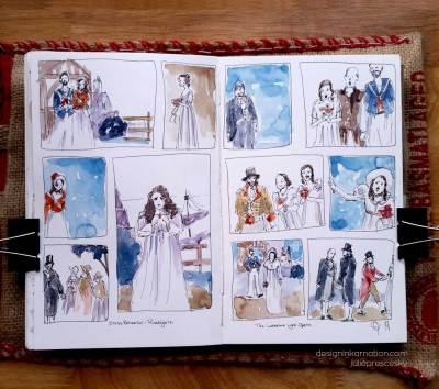 urban sketching, opera, theatre