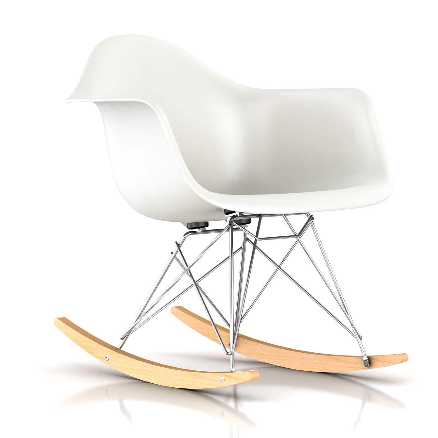 eames rocking chair swing top cover herman miller molded chairs