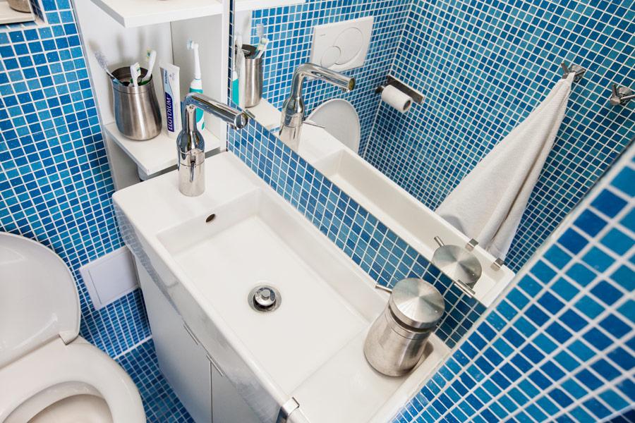 Cum sa amenajam o baie mica foarte mica minuscula Idei de la Ikea  design interior scandinav