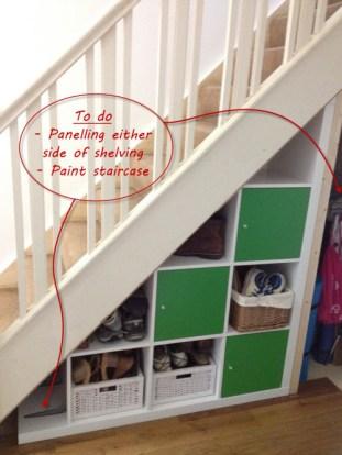 7. Staircase shelving via Barnacle's Choice