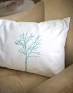 DIY stencil projects pillow