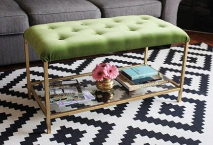 DesignJoyBlog DIY Ikea VITTSJÖ Hacks Cocktail Ottoman