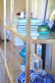 DesignJoyBlog DIY Ikea VITTSJÖ Hacks Golden Bookshelf